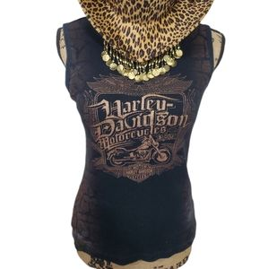 Harley Davidson Ribbed Ombre Tank. Size Large